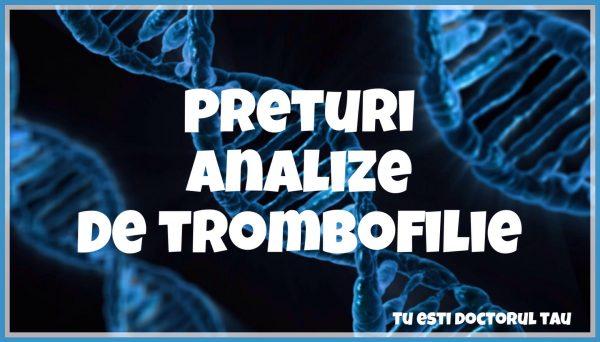 preturi analize de trombofilie
